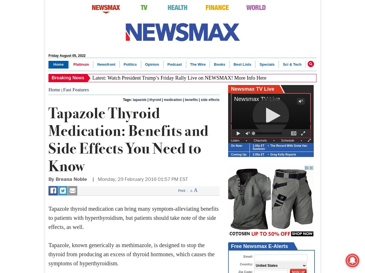 Tapazole Thyroid Medication: Benefits and Side Effects You Need to Know