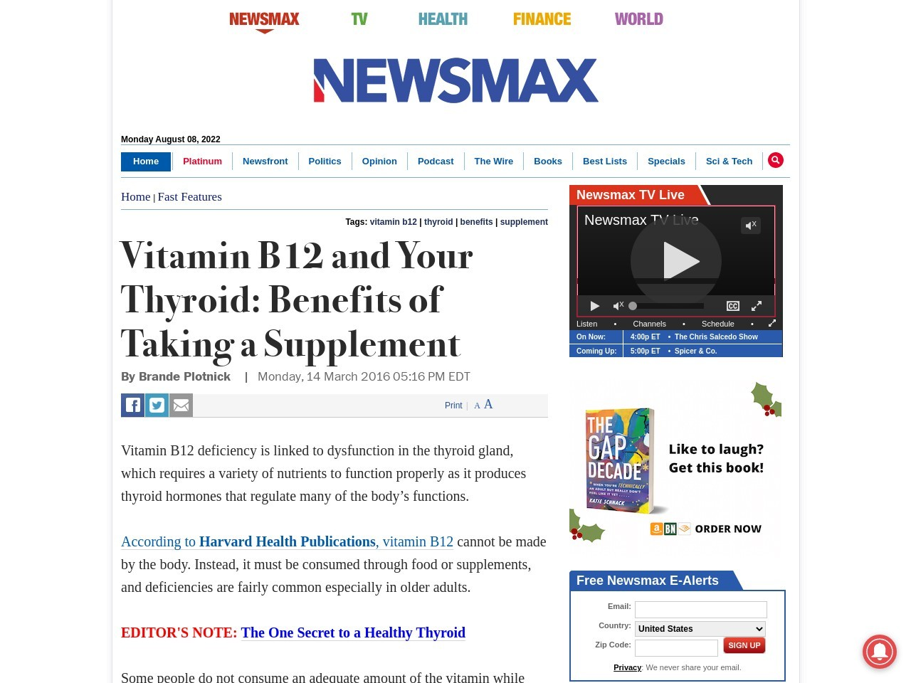 Vitamin B12 and Your Thyroid: Benefits of Taking a Supplement