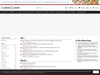 Screenshot for newsnow.co.uk