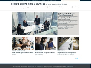 Screenshot for newyorkfed.org