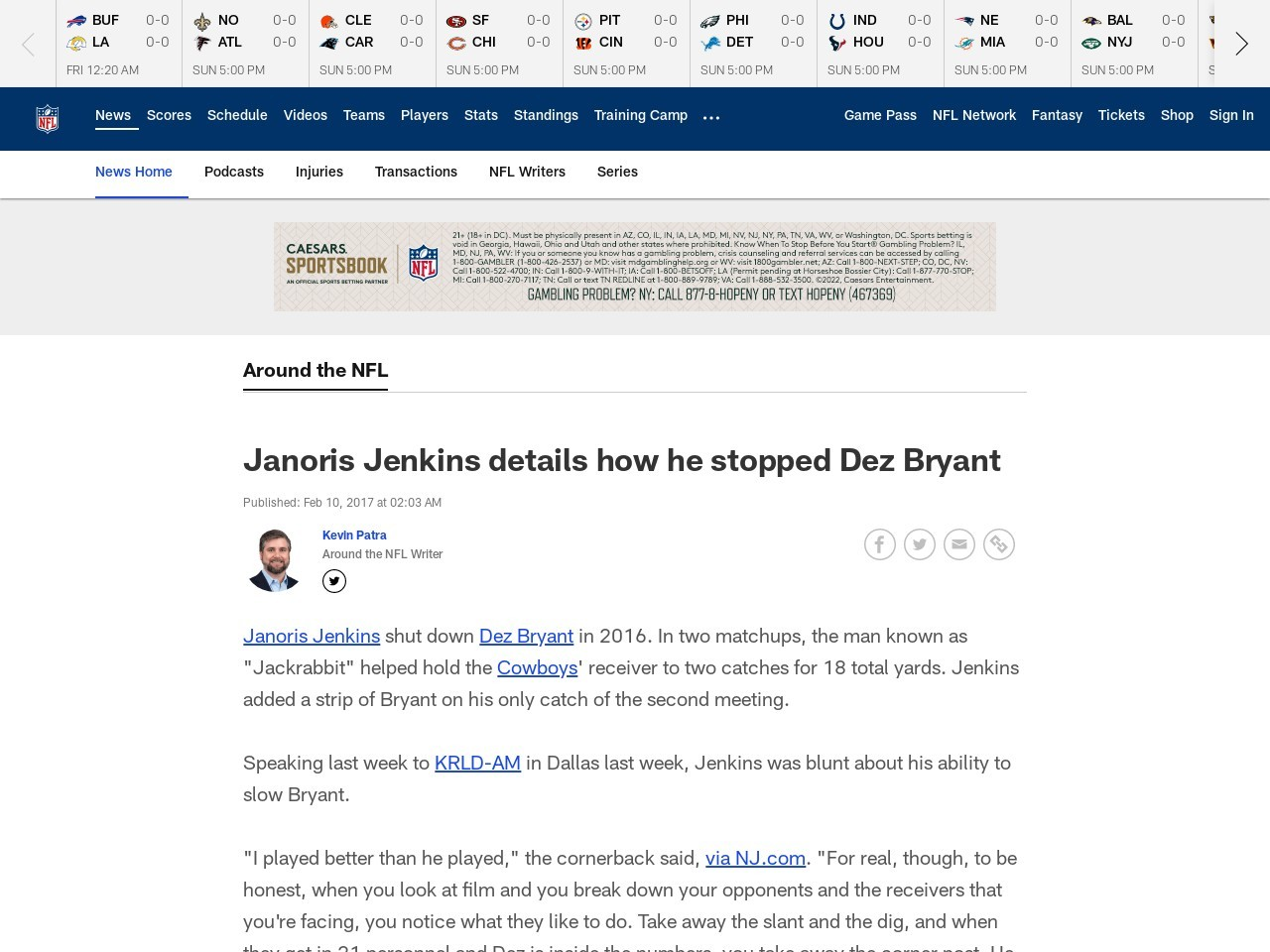 Janoris Jenkins details how he stopped Dez Bryant