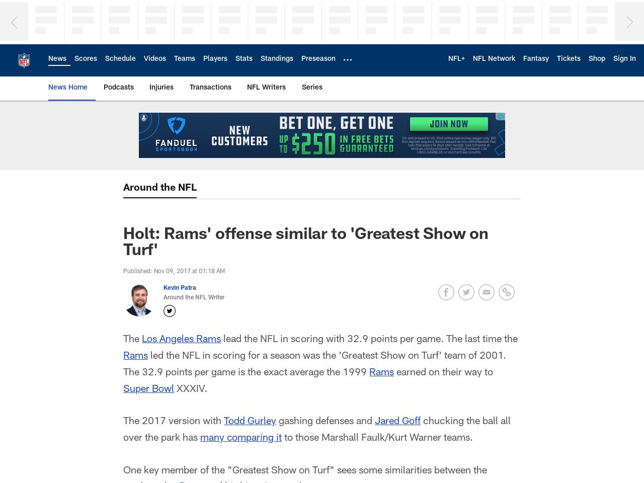Holt: Rams' offense similar to 'Greatest Show on Turf'