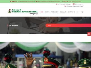 Screenshot for nigeriaembassyusa.org