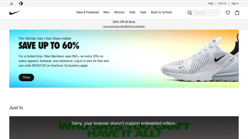 www.nike.com Vorschau, Nike, Inc.