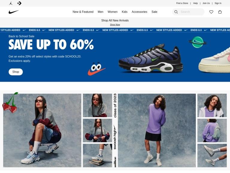 nike.com screenshot
