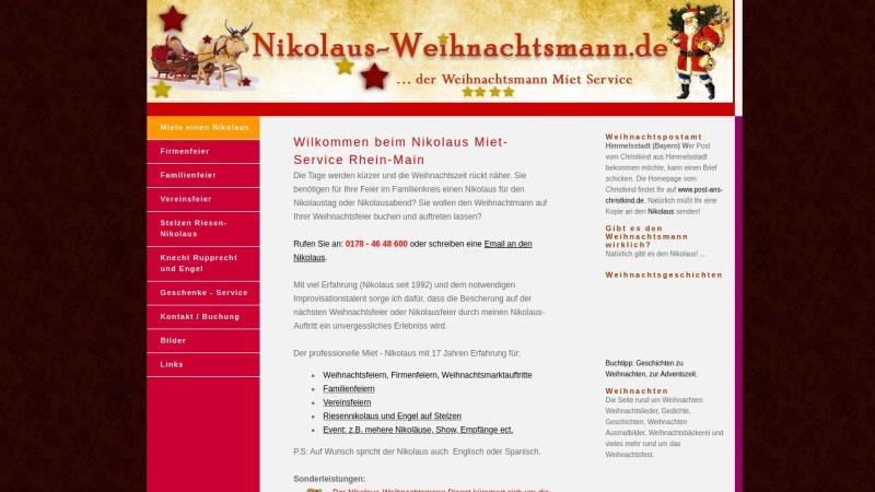 www.nikolaus-weihnachtsmann.de Vorschau, Nikolaus-Weihnachtsmann Service: Frankfurt-Rhein-Main