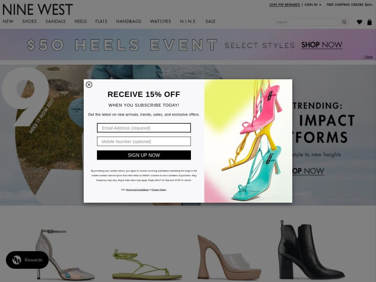 Nine West screenshot
