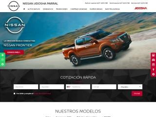 Captura de pantalla para nissanjidoshaparral.com.mx