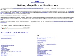 Dictionary of Algorithms and Data Structures