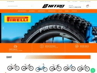 Captura de pantalla para nitrobikes.com.ar