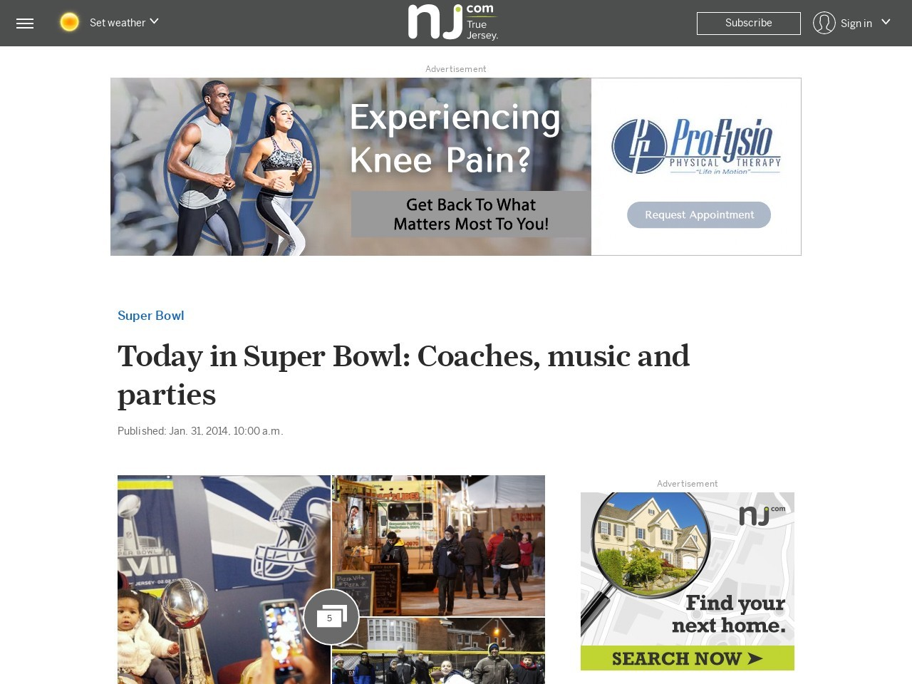 Today in Super Bowl: Coaches, music and parties