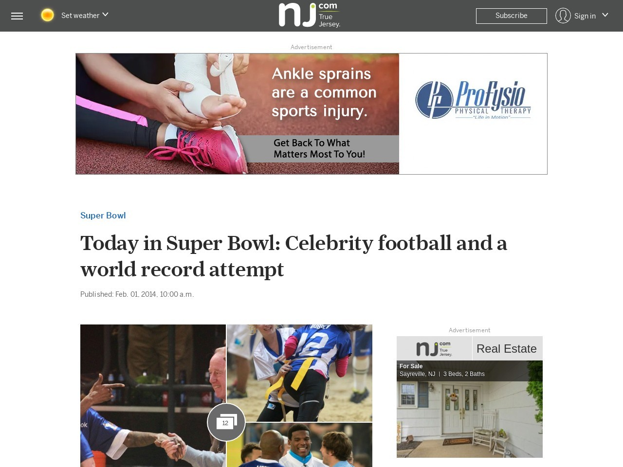Today in Super Bowl: Celebrity football and a world record attempt