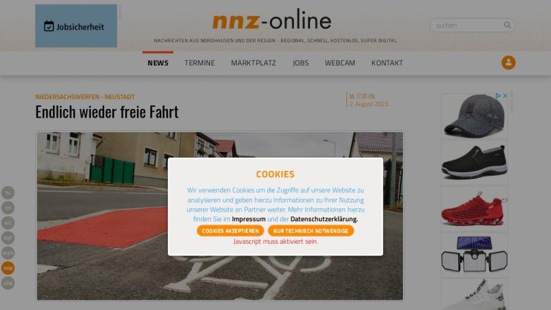 www.nnz-online.de Vorschau, Neue Nordhäuser Zeitung