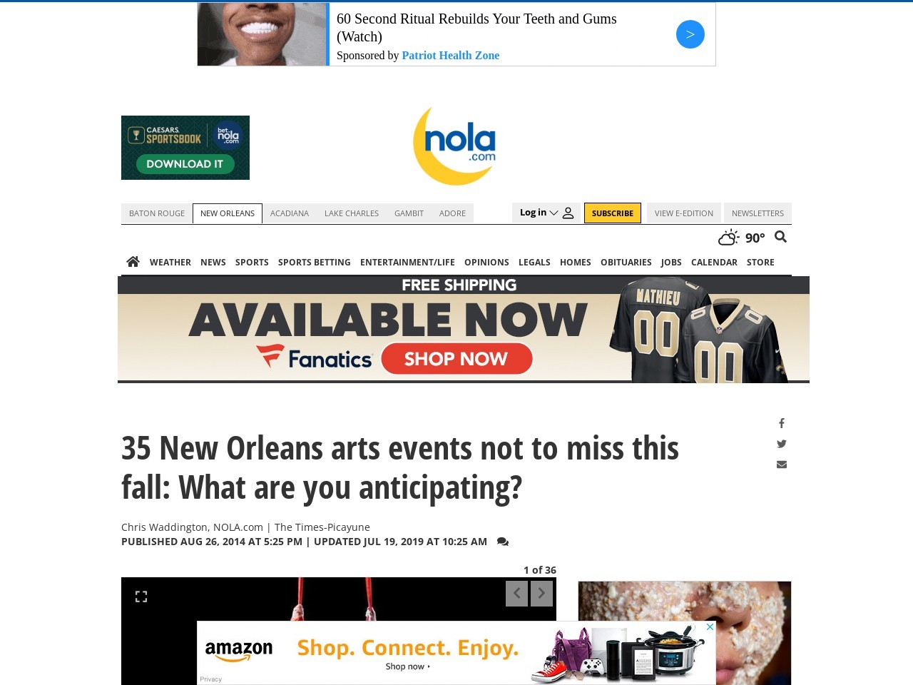 35 New Orleans arts events not to miss this fall: What are …