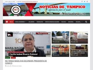 Captura de pantalla para noticiasdetampico.mx