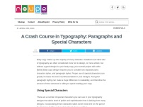 A Crash Course in Typography: Paragraphs and Special Characters