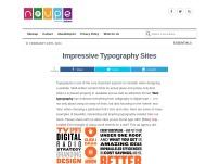 Impressive Typography Sites