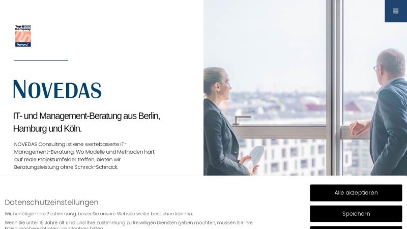 www.novedas.de Vorschau, Novedas Unternehmensberatung GmbH