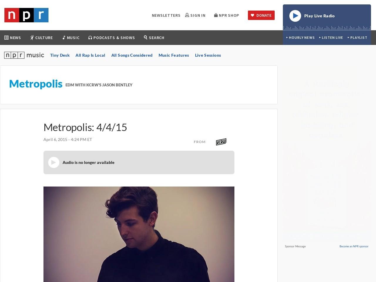 Metropolis: 4/4/15