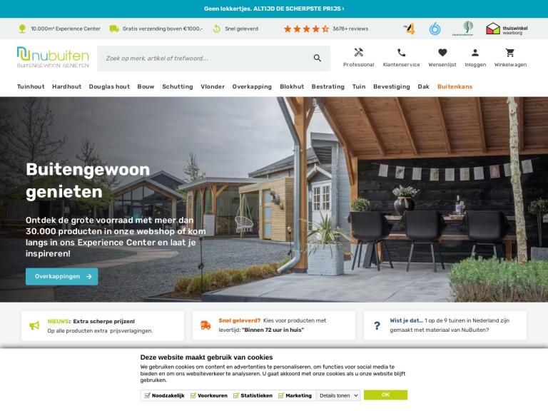 Nubuiten.nl screenshot