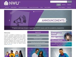 Screenshot for nwu.ac.za