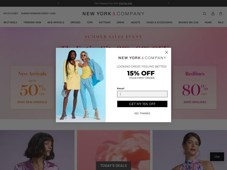 New York & Company screenshot