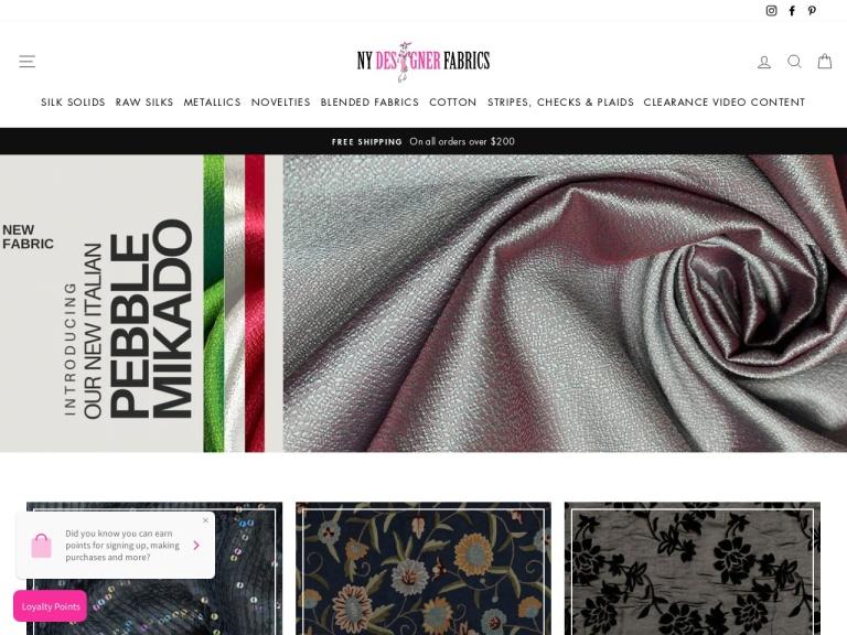 NY Designer Fabrics LLC screenshot