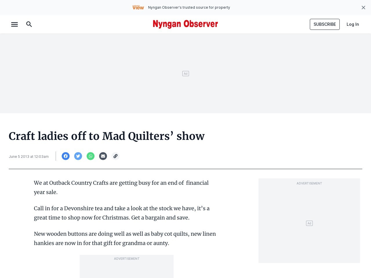 Craft ladies off to Mad Quilters' show