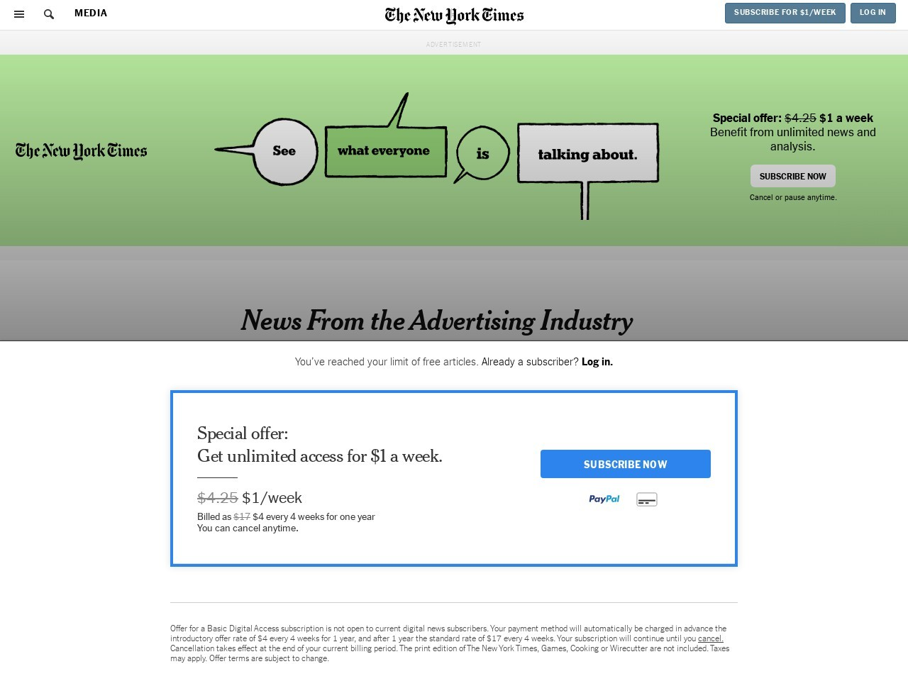 News From the Advertising Industry