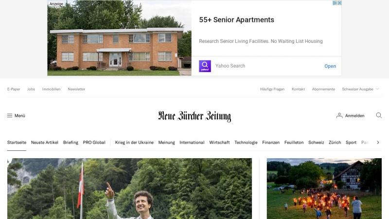 www.nzz.ch Vorschau, Neue Zürcher Zeitung