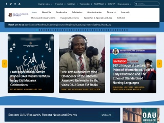 Screenshot for oauife.edu.ng