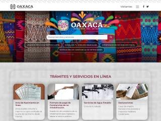 Captura de pantalla para oaxaca.gob.mx