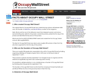 Screenshot for occupywallst.org