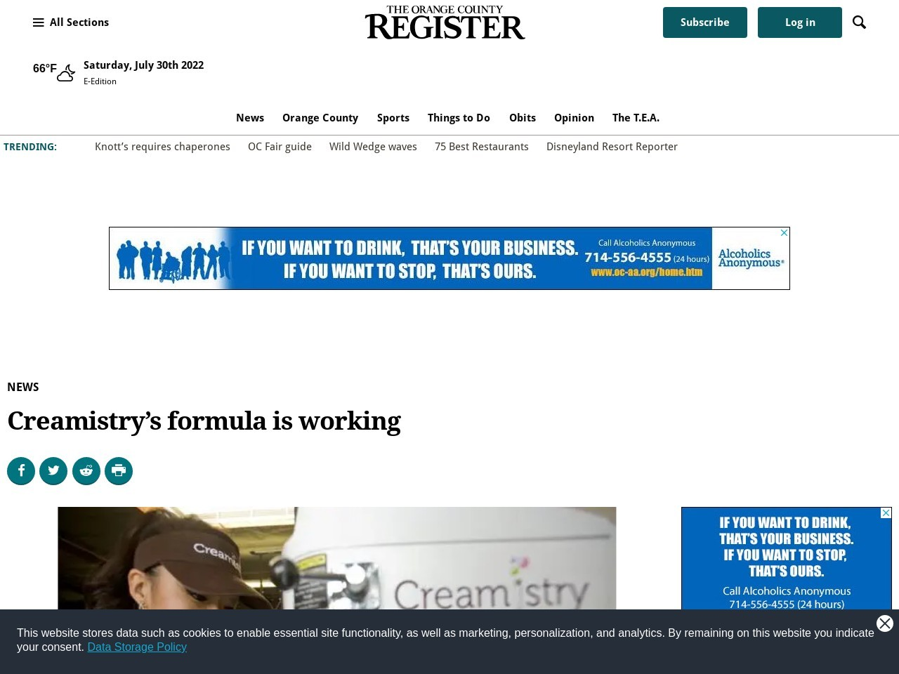 Creamistry's formula is working