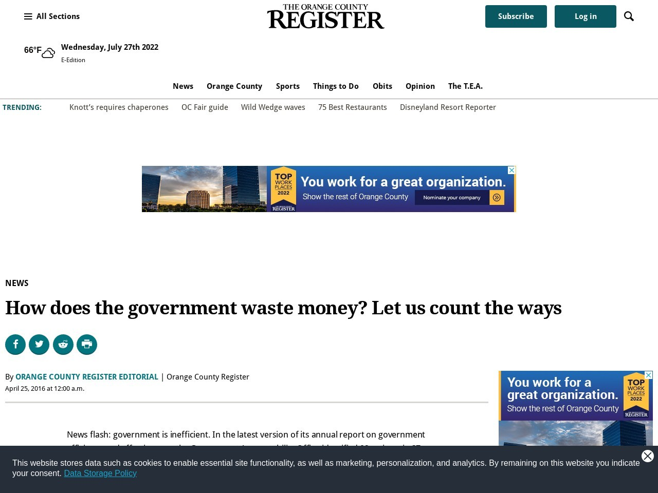 How does the government waste money? Let us count the ways