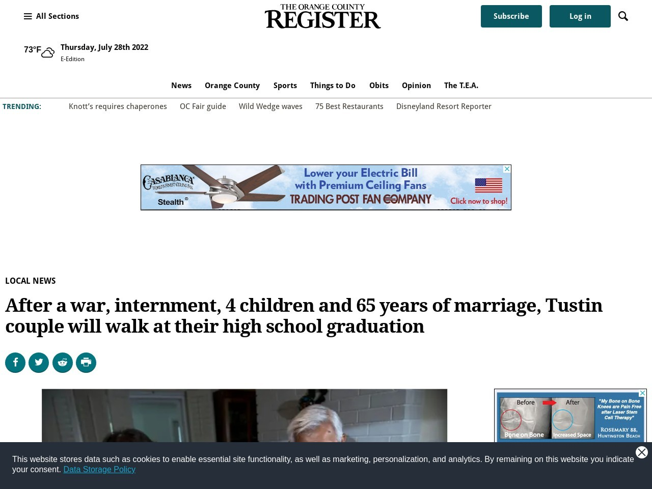 After a war, internment, 4 children and 65 years of marriage …