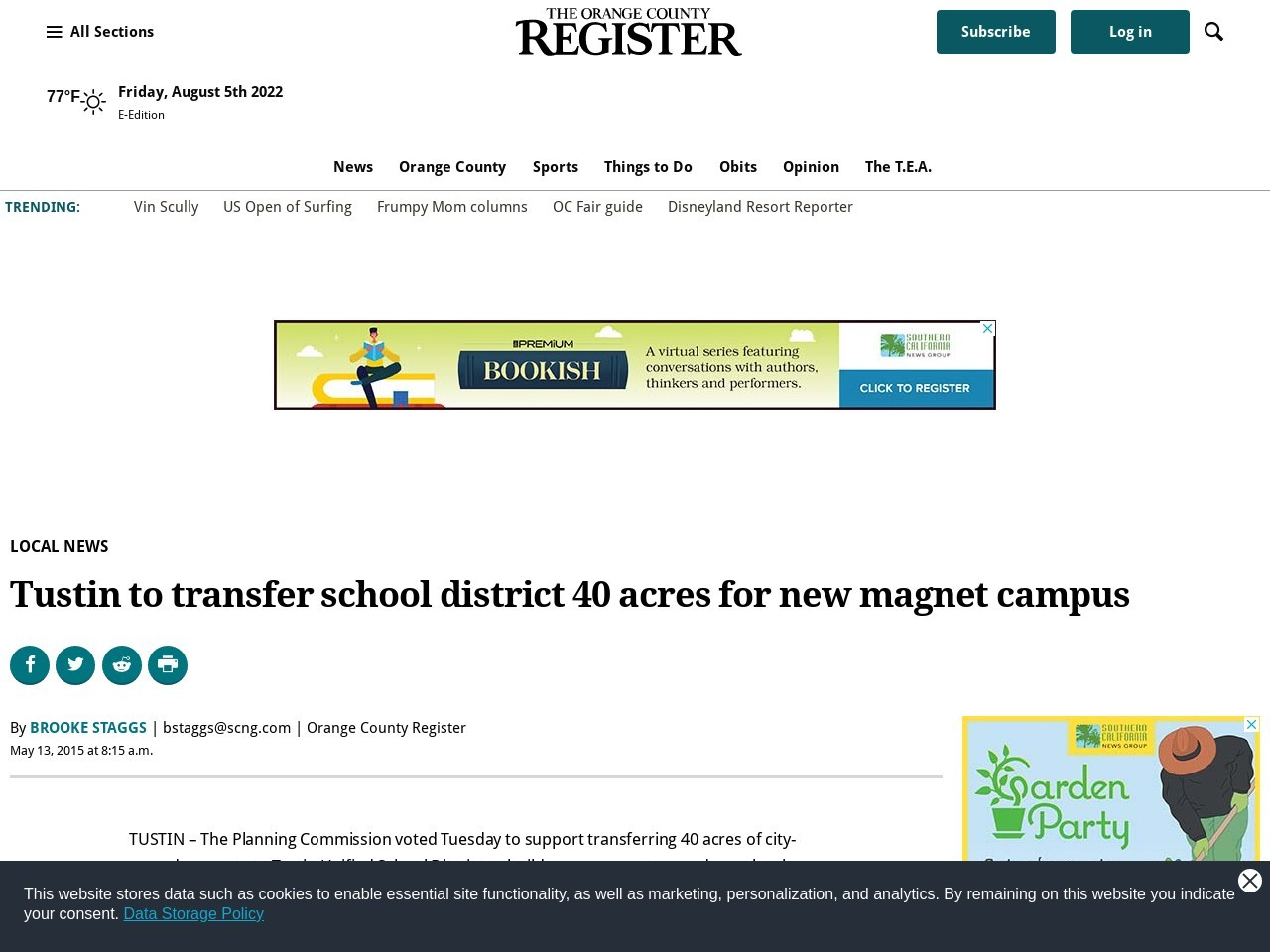 Tustin to transfer school district 40 acres for new magnet campus