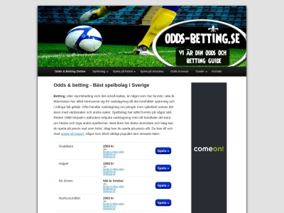 www.odds-betting.se