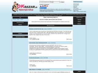 Screenshot der Website okbazar.at