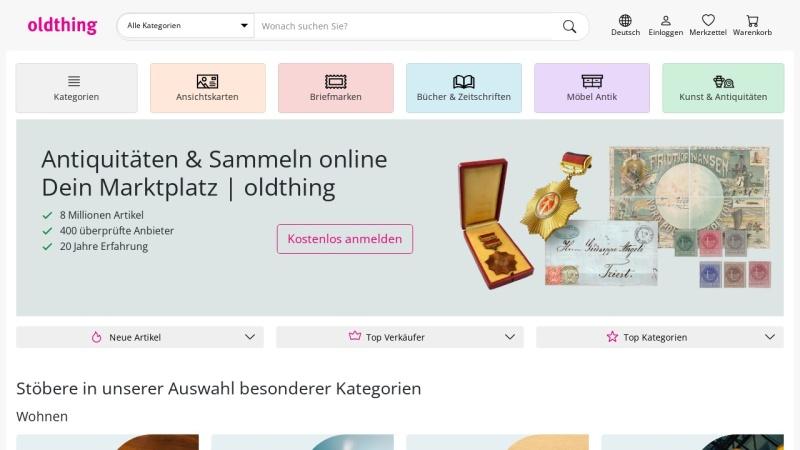 www.oldthing.de Vorschau, Oldthing.de, Regina Pröhm & Michael Schrottmeyer GbR