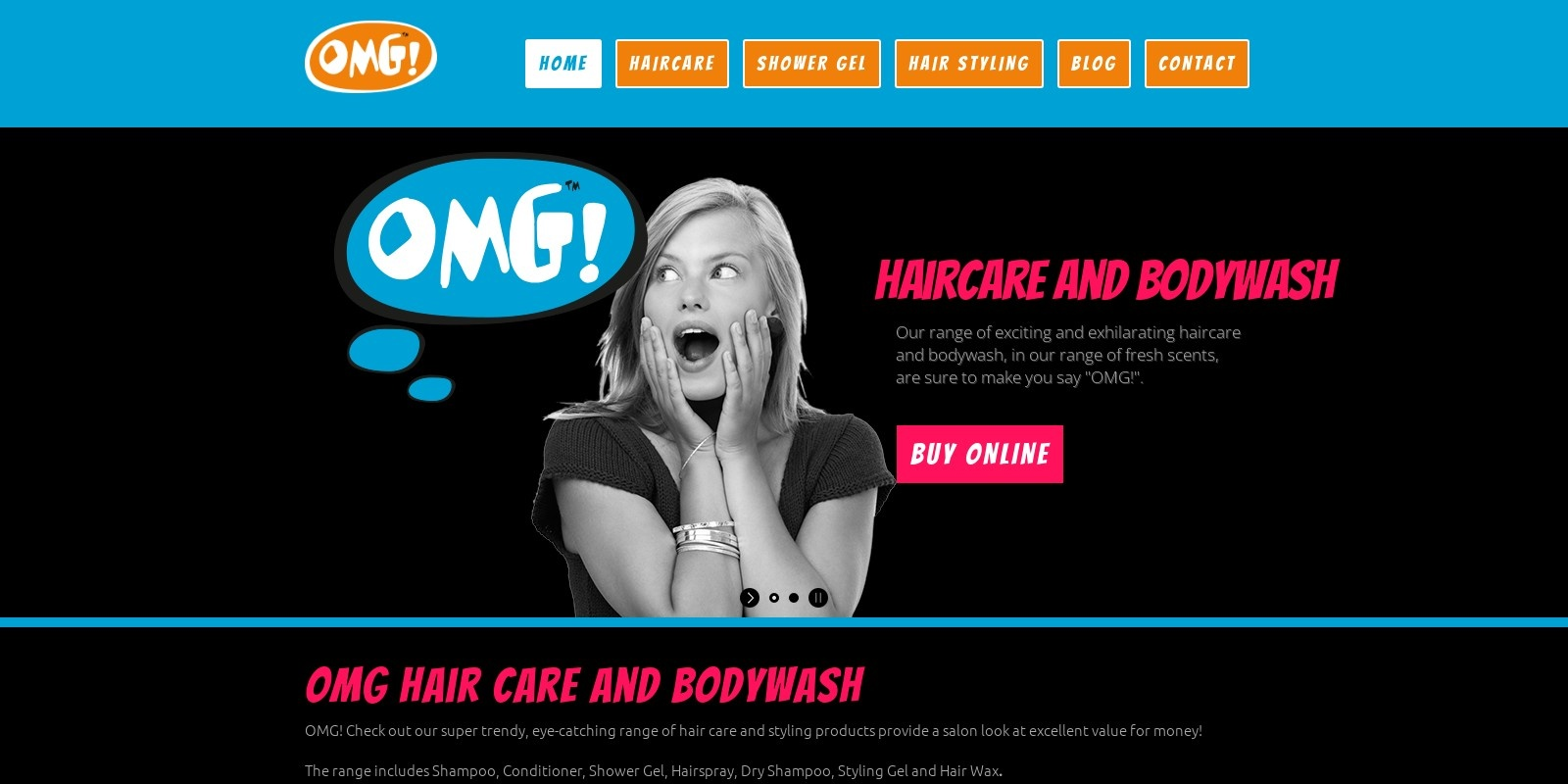 Preview of http://www.omghaircare.co.uk