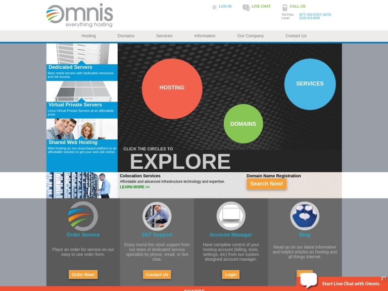Omnis Network screenshot