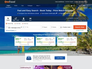 Screenshot for onetravel.com
