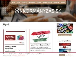 Screenshot stránky onkormanyzas.sk