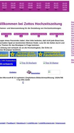 Vorschau der mobilen Webseite www.online-hochzeitszeitung.de, Zottos Hochzeitszeitung