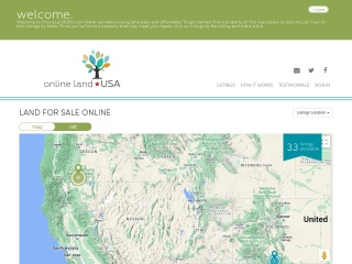 Screenshot for onlinelandusa.com