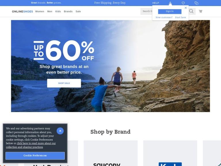 Onlineshoes screenshot