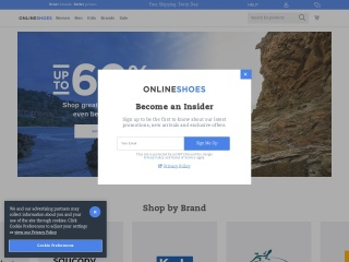 Screenshot for onlineshoes.com