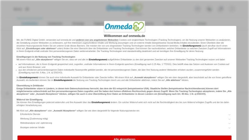 www.onmeda.de Vorschau, Onmeda: Krankheiten