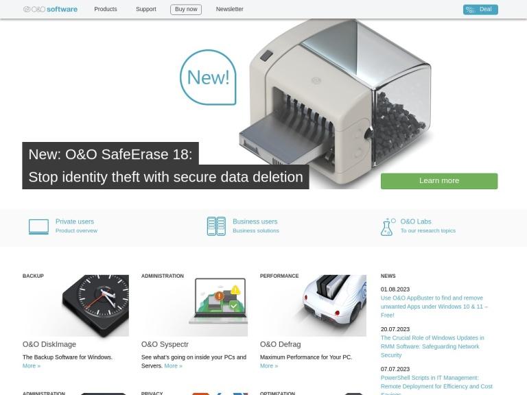 O&o Software screenshot